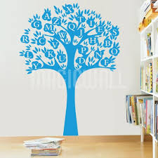 Nursery Wall Decals Canada Alphabet Tree Abc Wall Stickers Vinyl Decals Canada