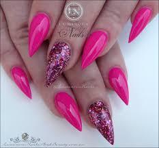 fuchsia acrylic nails luminous nails pinterest luminous nails