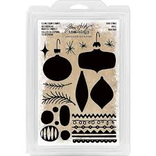 th93649 tim holtz idea ology cling foam stamps 24 pkg christmas