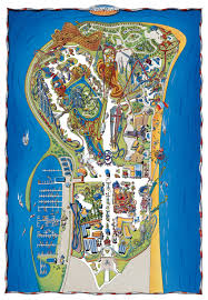 Map With Labels Cedar Point Brochures And Park Guides