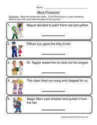 pronouns worksheet 2 more pronouns pronoun worksheets