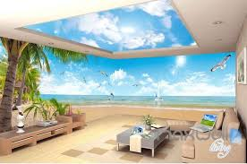 wallpaper for entire wall 3d palm tree island seagull entire room wallpaper wall murals art