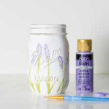 lavender flower painted mason jars it all started with paint