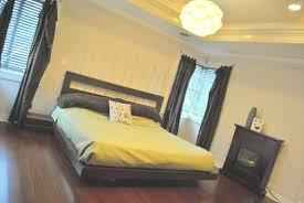 Bookcase Headboard King Bedroom Platform Bed With Storage And Headboard Black King
