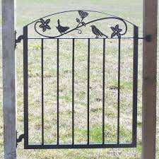 metal iron garden gate with birds and flowers 289 00 via