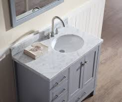 42 inch vanity single sink bathroom with right offset bathroom
