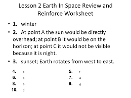 earth in space worksheet answers deployday