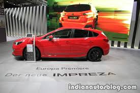 subaru impreza 2018 hatchback euro spec 2018 subaru impreza side at the iaa 2017 indian autos blog
