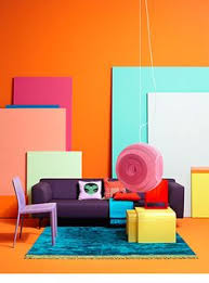 Color In Interior Blue Beige Mint Interior Modern Bauhaus Cubism Leather Sofa