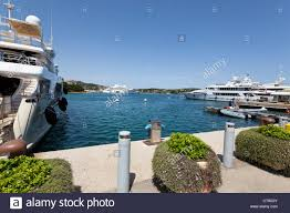 marina porto cervo with luxury designer shops on sardinia italy
