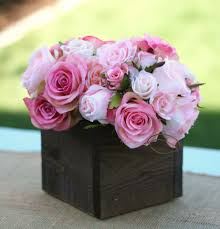 wooden flower box centerpiece sweet centerpieces
