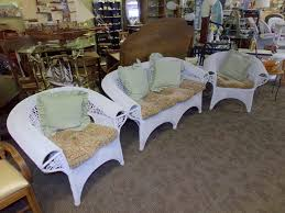 White Wicker Patio Chairs Decor White Wicker Patio Set Couch Chairs Table Curiosity