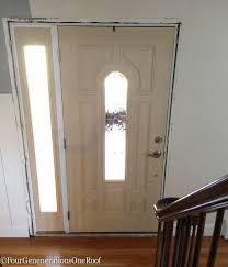 Front Door Interior How To Add New Door Molding Our Front Door Four Generations One Roof