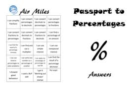 passport to percentages by icafferty teaching resources tes