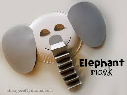 e u201d is for elephant elephant mask alphabet craft from cheap crafty