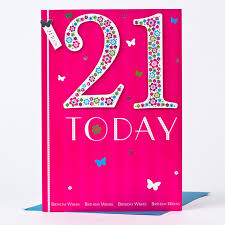 21 Birthday Card Design 21st Birthday Card 21 Today Flowers Only 1 49