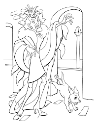 cruella vil coloring pages 102 dalmatians coloring pages free