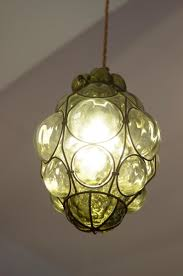 Glass Pendant Light Murano Caged Glass Pendant Light From Seguso For Sale At Pamono