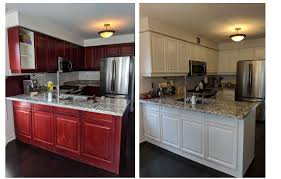 should you paint cherry cabinets refinishing and painting kitchen cabinets before and after