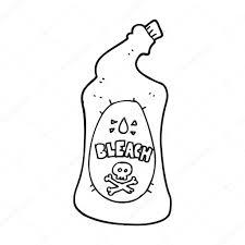 bouteille deau de Javel caricature noir et blanc  Image