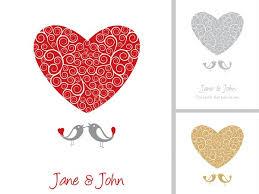 wedding card vector graphic heart vector graphics art free