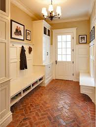 incorporating seating in a mudroom entryway