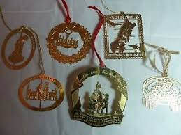 gold plated christmas ornaments lot of 6 gold plated christmas ornaments ebay