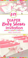 diaper baby shower invitation ey to zee