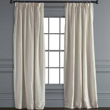 Ivory Linen Curtains Belgian Linen Pinch Pleat Drape Ivory Williams Sonoma