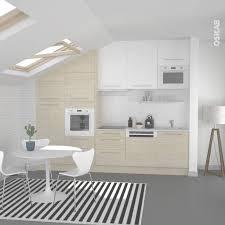 meuble cuisine scandinave cuisine en bois clair structuré stilo noyer blanchi plan de inside