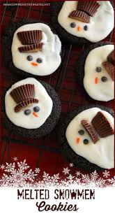 melted snowman cookies lights decoration