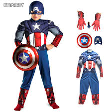 Captain Halloween Costume Aliexpress Koop Kinderen Kind Spier Captain America Kostuum
