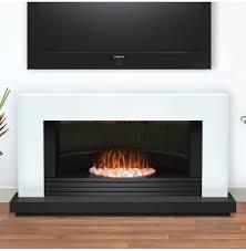 Contemporary Electric Fireplace Daytona Contemporary White And Graphite Electric Fire Suite