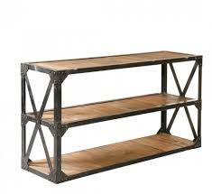 wood and metal console table fascinating old wood console table with storage for small hallway