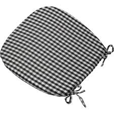 Dining Room Chair Pads Cushions Enchanting Kitchen Chair Pads With Ties Including Gingham Check