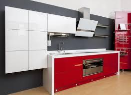 cuisine blanche et grise cuisine rouge et blanche 13 idées et conseils pour l u0027agencer