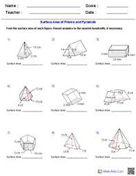 prisms pyramids cylinders u0026 cones volume worksheets math aids