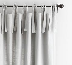White Tie Curtains White Tie Top Curtains Decor With Textured Cotton Tie Top