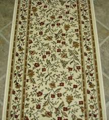 interior hallway rug runners with green leaves and flowers