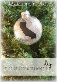 diy state ornaments delicate construction