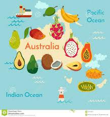World Map Australia by Fruit World Map Australia Stock Vector Image 62418257