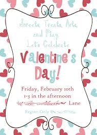 Simple Invitation Cards Cute Valentines Day Celebration Invitation Card Template With