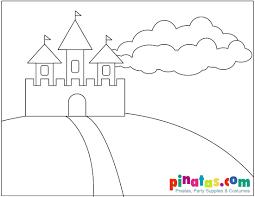 coloring princess castle coloring pages