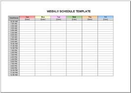 Excel Weekly Schedule Template Free Weekly Schedule Template For Excel 2007 2016