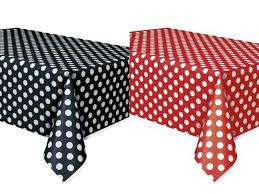 red white polka dot table covers set of 2 minnie mouse polka dots table covers red black lady bug