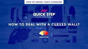 how to install vinyl flooring near a curved wall tutorial by