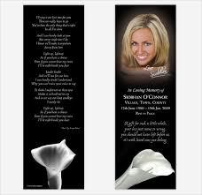 21 funeral bookmark templates u2013 free sample example format