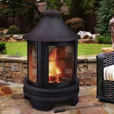 Outdoor Fireplace Chiminea Outdoor Fireplace W Smokestack Wood Burning Backyard Bbq Cooking