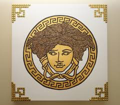 versace painting 20x20 medusa glitter u0026 rivets pop art