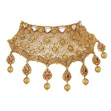 chokers necklace gold images Choker gold necklace designs polki choker necklace design jpg